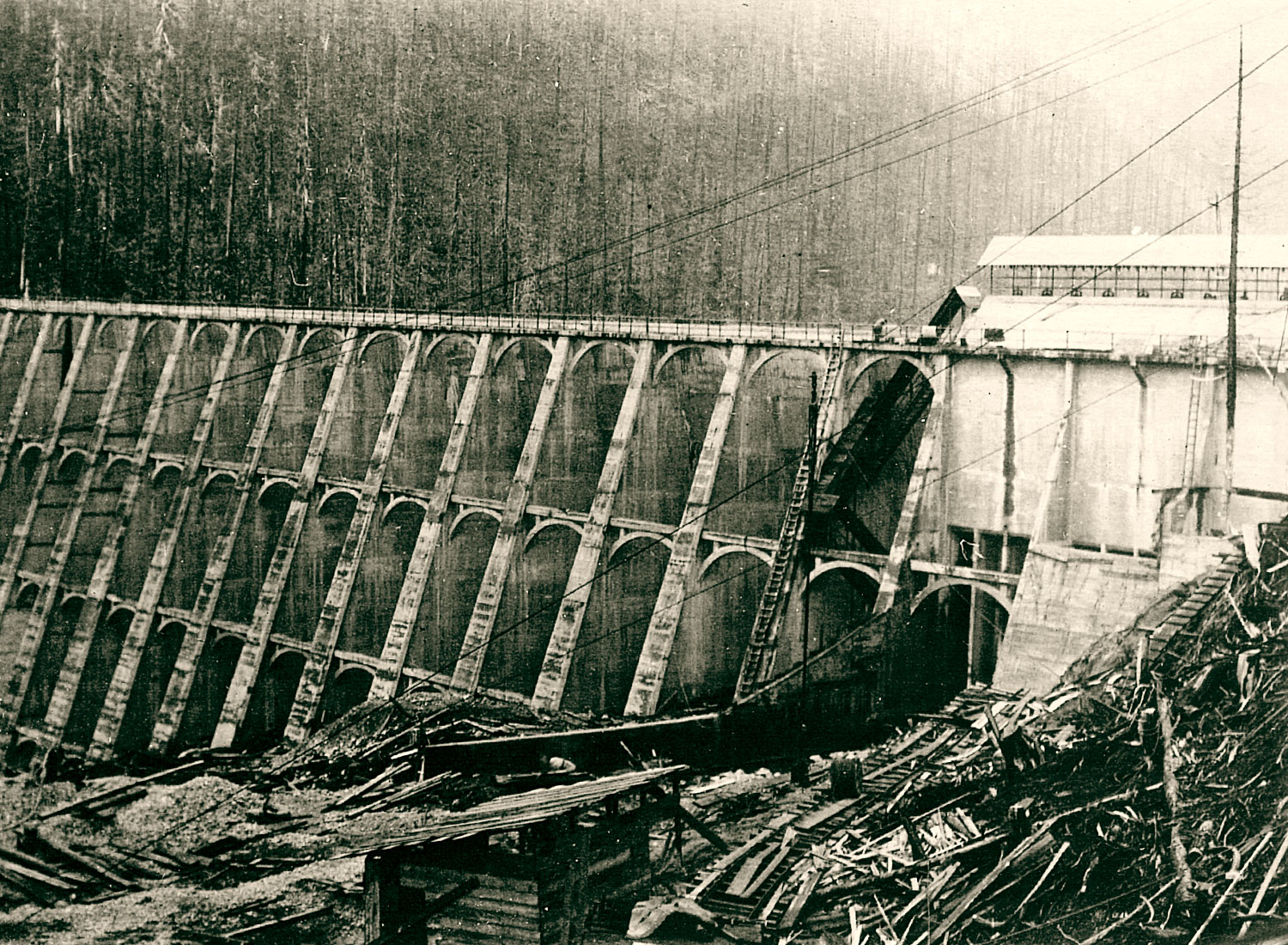 1924 Photo of Anyox Dam